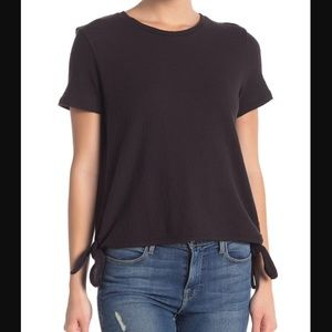 MADEWELL Modern Side Tie Top T-shirt black M